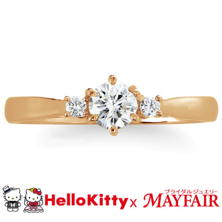 ハローキティ×メイフェアの婚約指輪でタワーブリッジ