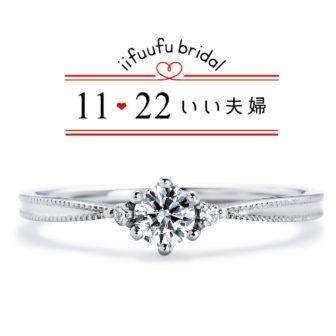 いい夫婦ブライダルの婚約指輪でIFE009-015