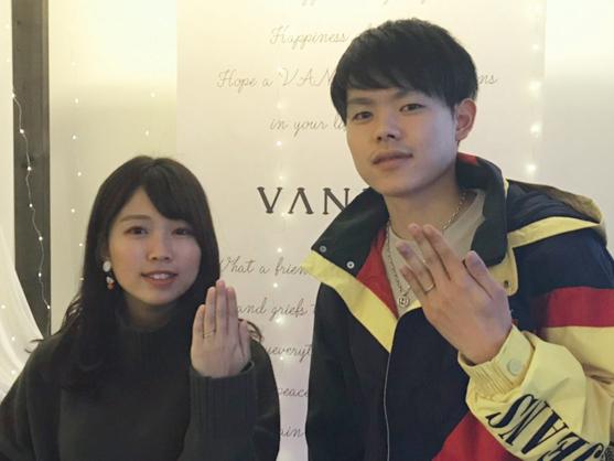 広島県福山市 RosettE(ロゼット)の結婚指輪 をご成約のお客様