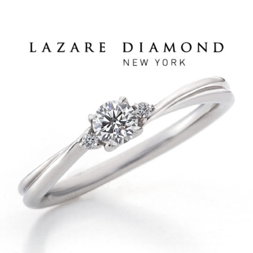 ラザールダイヤモンドの婚約指輪でエーデルワイス