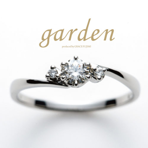 リトルガーデンの結婚指輪でハイビスカス