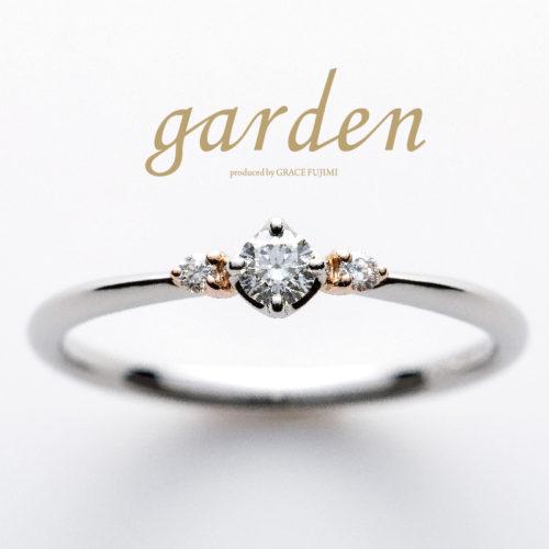 リトルガーデンの婚約指輪でパンジー