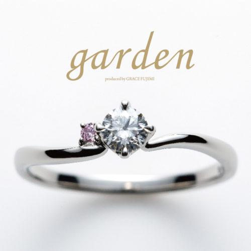 リトルガーデンの婚約指輪でチューリップ