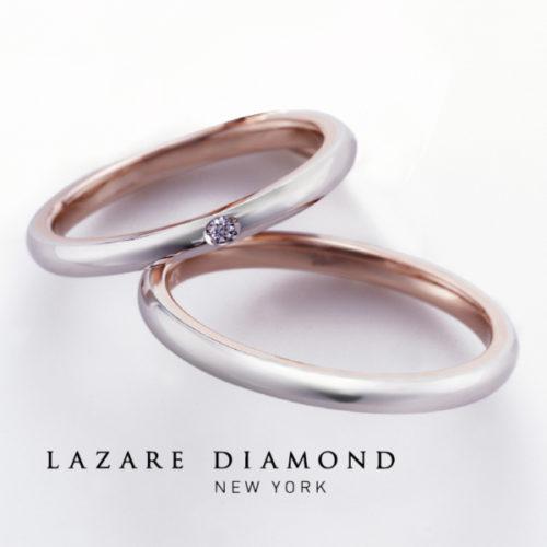 ラザールダイヤモンドの結婚指輪でバーベナ