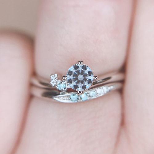 カフェリングローブドゥマリエ、カフェリング婚約指輪、カフェリング結婚指輪、