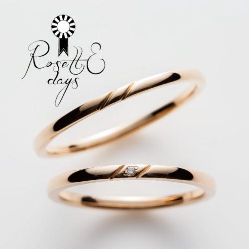 ロゼットデイズの結婚指輪でカモミール
