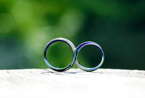 結婚指輪ソラ、アレルギーフリー、素材カスタム、オリジナルカラー、レムニスケート、