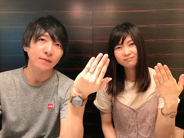 岡山県倉敷市 Mariage ent(マリアージュ エント)の婚約指輪・Quand de Mariage(クワンドマリアージュ)の結婚指輪 をご成約のお客様