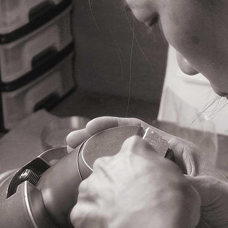 ハワイアンジュエリー手彫り