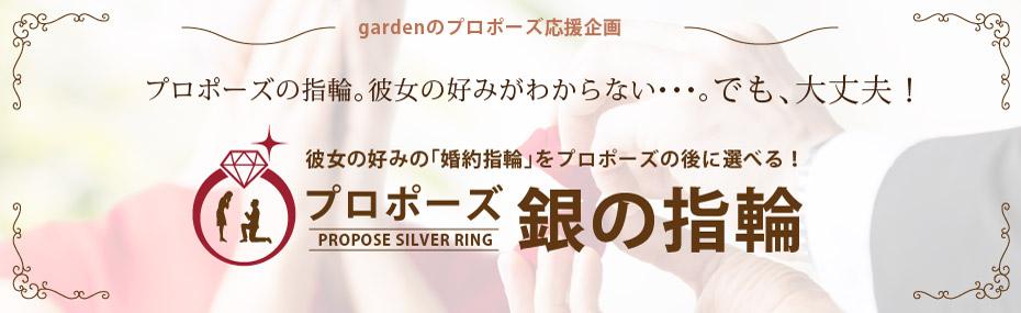 滋賀で人気のプロポーズプランで銀の指輪