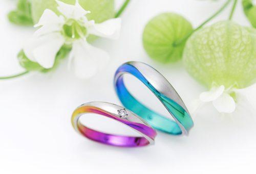 結婚指輪ソラ、ガンガ、アレルギーフリー、素材カスタム、