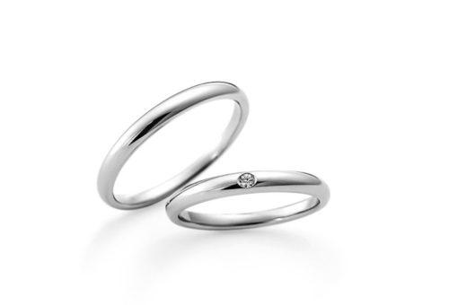 結婚指輪,ラザール結婚指輪,甲丸リング,