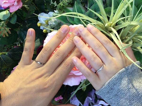 福島県いわき市  ROYAL ASSCHER結婚指輪ご成約のお客様
