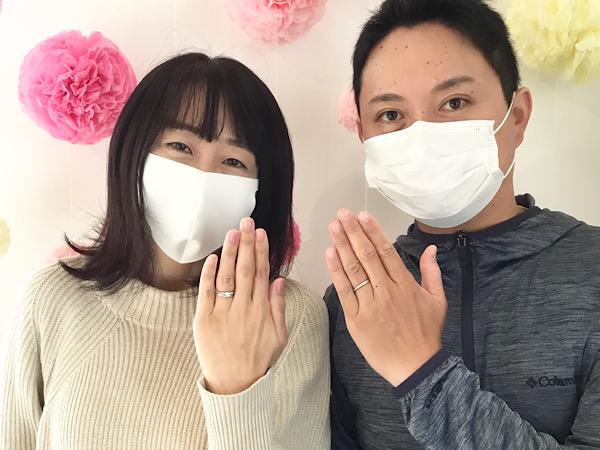 福島県福島市 AFFLUX婚約指輪&結婚指輪ご成約のお客様