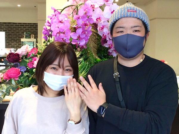 福島県いわき市 AFFLUX結婚指輪ご成約のお客様
