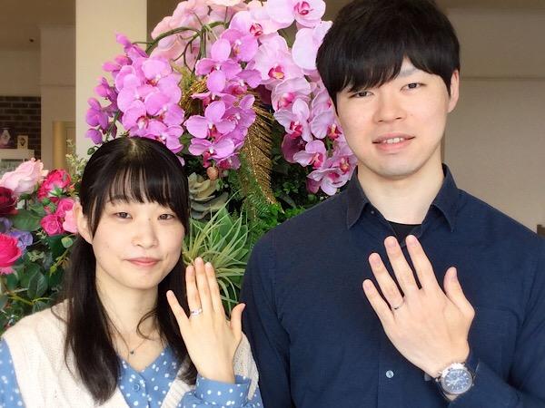 福島県いわき市 ROYAL ASSCHER婚約指輪&結婚指輪ご成約のお客様