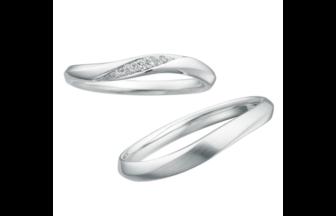 サムシングブルー,サムシングブルー結婚指輪,結婚指輪ウェーブ,