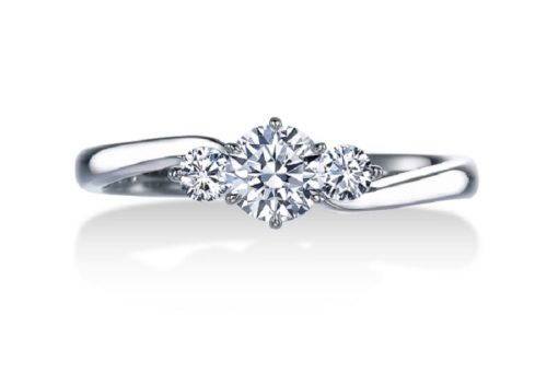 プラチナ/ダイヤモンド婚約指輪