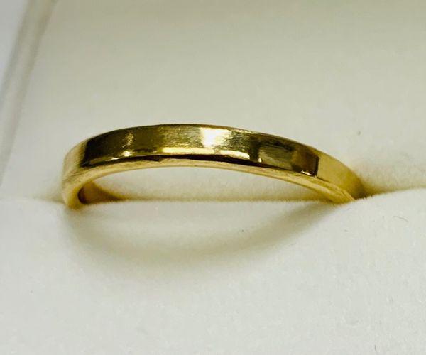 手作り結婚指輪のシルエット