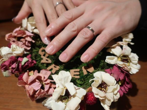 鍛造の結婚指輪を選んだお客様2