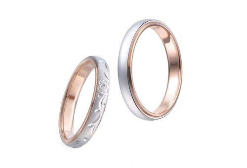 プラチナ・K18PG結婚指輪