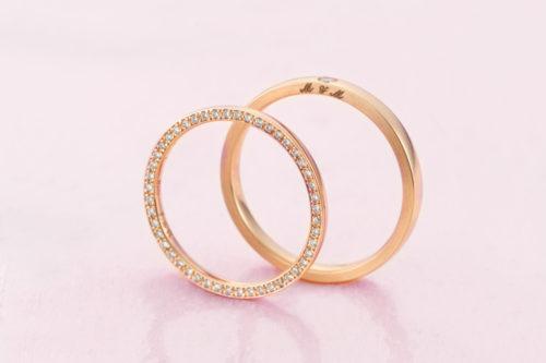 ピンクゴールド結婚指輪