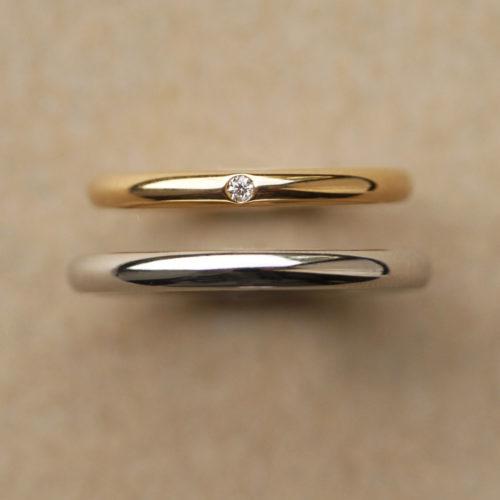 素材違いの結婚指輪