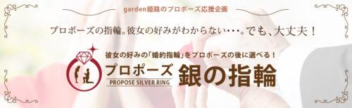 プロポーズ銀の指輪