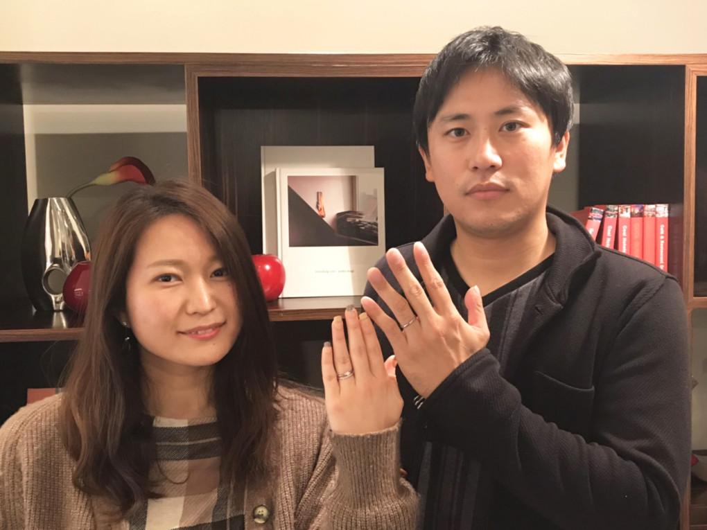 広島県福山市 VANillA(ヴァニラ)の婚約指輪 と et.le ( エトル ) の結婚指輪 をご成約のお客様