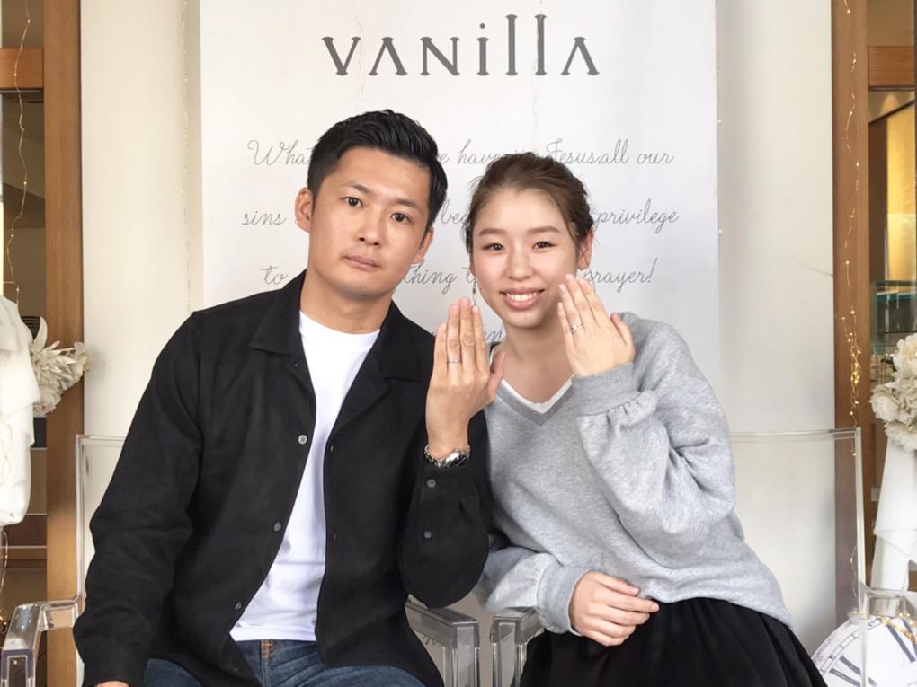 岡山県岡山市 YUKA HOJO(ユカ ホウジョウ)の婚約指輪 と 結婚指輪 をご成約のお客様