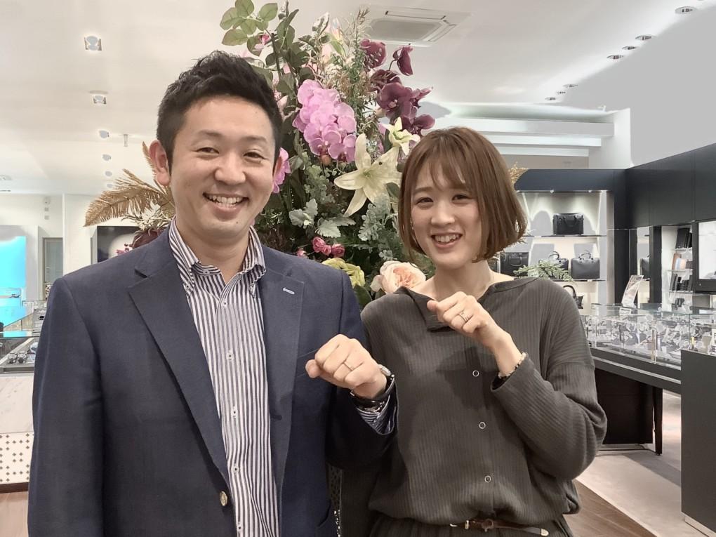 福島県郡山市ご結婚指輪『Makana』ご成約のお客様