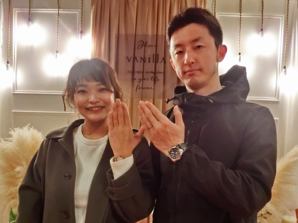 広島県広島市 YUKA HOJO ( ユカホウジョウ ) と CHER LUV ( シェールラブ ) の 結婚指輪 をご成約のお客様