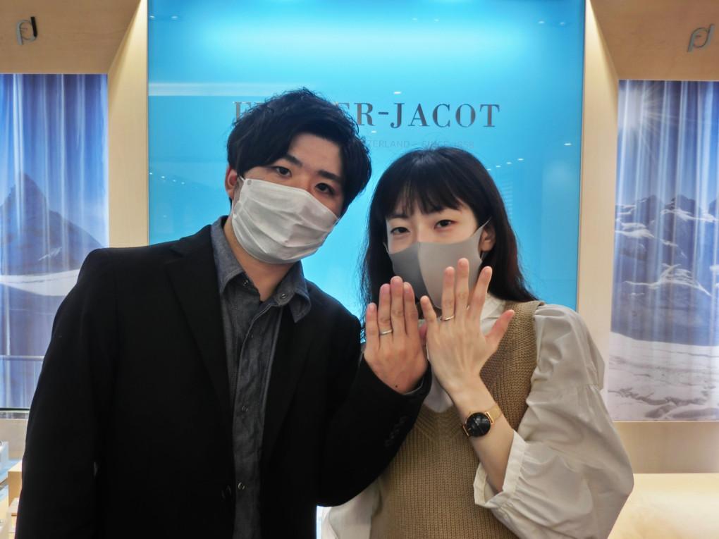 広島県尾道市 FURRER JACOT ( フラージャコ― )  の 結婚指輪 をご成約のお客様