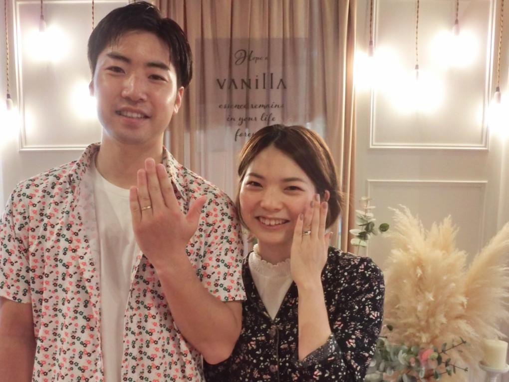 広島県広島市 FISCHER(フィッシャー) の 結婚指輪 をご成約のお客様