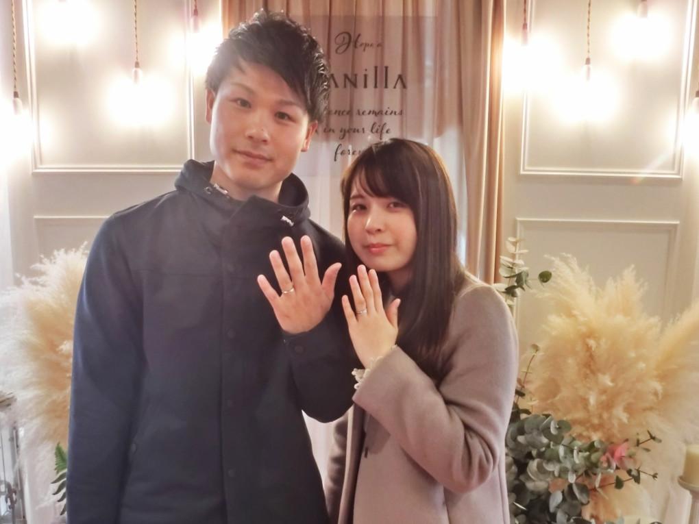 山口県周南市 Mariage ent ( マリアージュエント ) の 婚約指輪 と 結婚指輪 をご成約のお客様