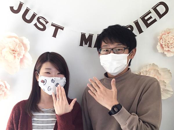 福島県福島市 CAFERINGの婚約指輪と結婚指輪をご成約のお客様