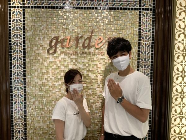 神戸市垂水区 SomethingBlue、et.luの結婚指輪をご成約頂きました。
