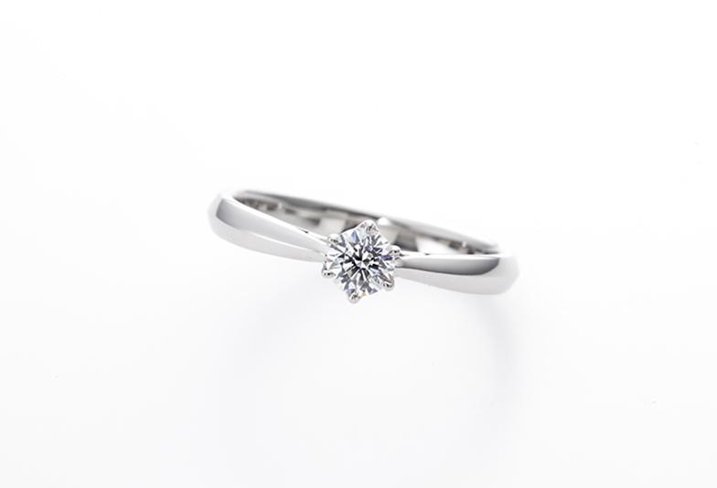 モルゲンレーテのシンプルな婚約指輪