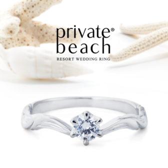 プライベートビーチの婚約指輪でWALEA