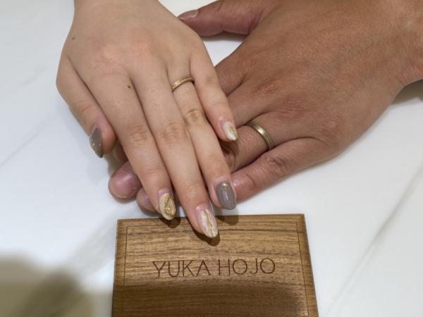 明石市|ユカホウジョウYUKAHOJOの結婚指輪をご成約頂きました