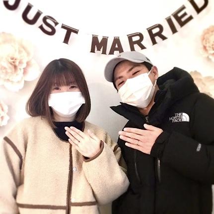 福島県福島市 ロイヤルアッシャーの結婚指輪をご成約のお客様