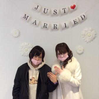 福島県いわき市 ロイヤルアッシャーダイヤモンドご結婚指輪ご成約のお客様