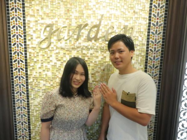 大阪市淀川区 FISCHERの結婚指輪をご成約のお客様