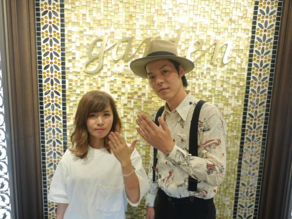三重県伊賀市 BAUM/LIAISONの結婚指輪をご成約のお客様