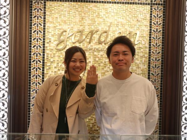 奈良県桜井市/大阪市 AMOUR AMULETの婚約指輪をご成約のお客様