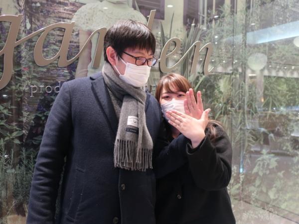大阪市淀川区 Mariage entの結婚指輪をご成約頂きました
