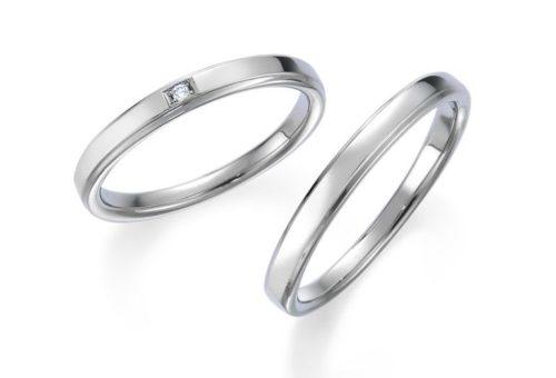 ストレートラインの結婚指輪