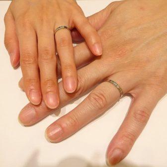 大阪府 serieuxの指輪をご成約のお客様です