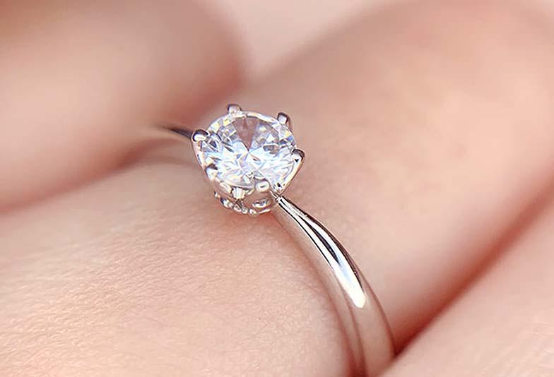 浜松市婚約指輪シンプル