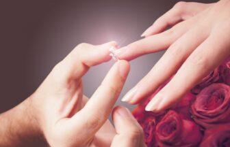 Garden梅田で銀の指輪でプロポーズ